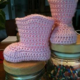 babyboots roze